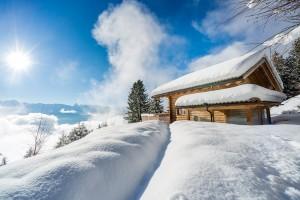 Chalet im Winter